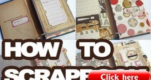 Learning how to scrapbook is fun! It is a great hobby the results in a book you ...