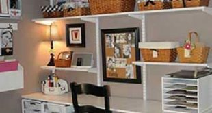 Black-and-White Scrapbook Room