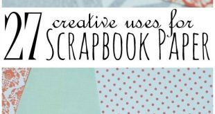 Creative uses for scrapbook paper that don't involve scrapbooking! I have to...