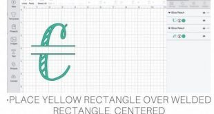 Cricut Tutorials and Tips How To create a split level monogram in Design Space u...