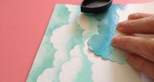 DIY Chalk Ink Clouds tutorial. I do this to decorate sky backgrounds when I'...