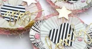 DIY Embellishments using Cupcake Liners and Toothpicks! Made by Serena Bee DIY p...