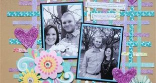 Easy DIY Scrapbook Ideas and Projects | Scrap Paper Layout by DIY Ready at diyre...