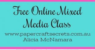 Free Mixed Media Scrapbooking Class for Beginners