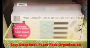 How I Organize My Scrapbook Paper Pads & Journaling Cards - YouTube
