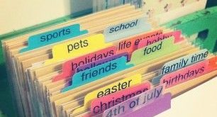 Organization - Sticker organization - subjects/dividers. Going to do this with ...