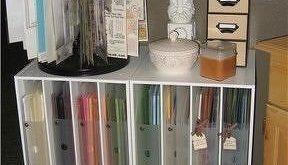 Papercrafting Organization: Paper Storage – Cropper Hopper Holders in Paper Cu...