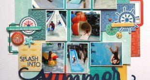 Summer Scrapbook Layouts   12X12 Layouts   Scrapbooking Ideas   Creative Scrapbo...