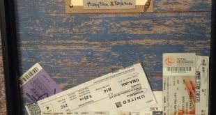 I cut a slit into a shadow box to store our ticket stubs and adventures... My bo...