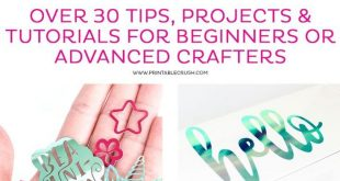Learn to use the Cricut Machine with over 30 tips, projects, and tutorials for b...