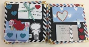 Scrapbook ideas - scrapbook for boyfriend, kids scrapbook