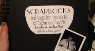 Starting my own scrapbook as a little valentines present for the boyfriend this ...