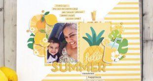 Summer Scrapbook Layouts | 12X12 Layouts | Scrapbooking Ideas | Creative Scrapbo...