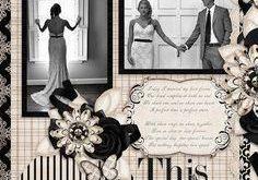 Wedding Scrapbook Layouts | 12X12 Layouts | Scrapbooking Ideas | Creative Scrapb...