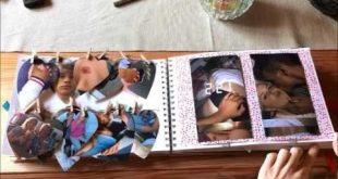 birthday scrapbook for my boyfriend - YouTube
