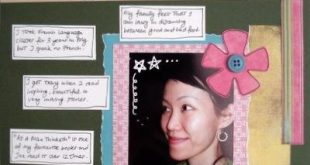 scrapbooking all about myself | Random Things About Me Scrapbooking Layout
