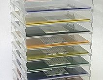 Display Dynamics - Perfect Paper Stackable Open Paper Trays - 12 x 12 - Lipless ...