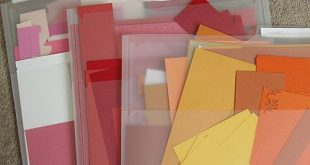 clear file folders for scraps and when they're full, stop saving them!