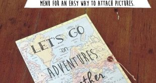 Book of Adventures Personalized Travel Journal for your spouse, boyfriend or girlfriend