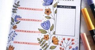 Floral March bullet journal