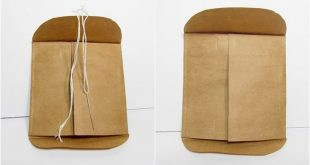 DIY Buttoned Up Envelopes - Free Template