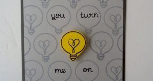 Du machst mich an Karte  Liebe Jubiläum  lustig und süß  handgemachte Glühbi...