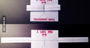 How cheesy is my homemade Valentines card for my boyfriend !?Happy Valentines Da...