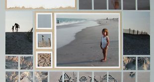 Next time you create beach scrapbook layout, use photos of the sand for a unique...