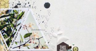 Scrapbook layout   8.5 X 11 Scrapbook Layout   Creative Scrapbooker Magazine #8....