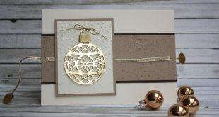 Zauberhaft-handgemacht, Karte mit Ziehtext-Element, Ziehkarte, Thinlits Am Chris...