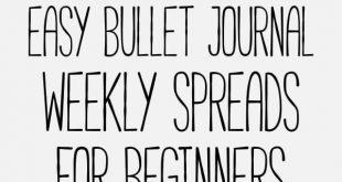 21 Easy Bullet Journal Weekly Spreads For Beginners