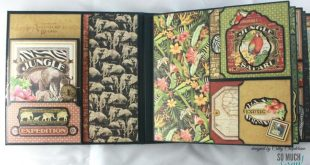 "8"" x 8"" Safari Adventure Scrapbook Mini-Album Video Tutorial"