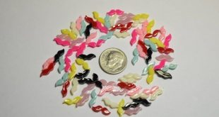 80pc Tiny Mustache Mix Flat Back Cabochon for Nail Art, Scrapbooking, DIY Projects, Crafts, Cellphon