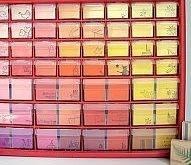 Colorful Stamp Storage