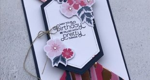Double Point Fold Card using Everything is Rosy Medley.... Fun Folds, Stampin Up...