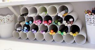 Eine wirklich gute Idee für Stifte und Co - auf, über oder neben dem Schreibti