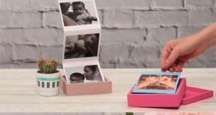 Fotogeschenke basteln: Fotoalbum zum Aufklappen, Fotos, DIY, Geschenke basteln, ...