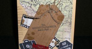 Geburtstagskarte - Gute Reise - Birthday cards have a good trip - Bon voyage! wi...