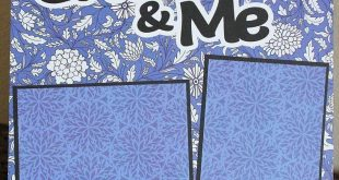 Grandma & Me Basic Premade Scrapbook Page 1212 Layout #scrapbooking101 #memor   ...