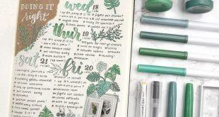 Green journal inspiration