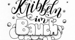 Hand-Lettering Galerie mit Sprüchen, Zitaten und Namen. Handgemalt mit Brushpen...