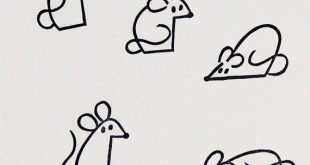 Mice stamps, rubber stamps set, set of 5 stamps, handmade stamps, animal stamps, mouse stamp, rat stamp, cute stationary, small stamps