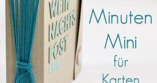 Minialbum Bastelanleitung für Karten von Mel für www.danipeuss.de Scrapbooking...