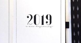 "Minimalistic Bullet Journal on Instagram: ""2019 is just around the corner! I&#..."