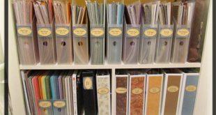 Paper Storage - craft room/scraproom organization paper storage ROYGBIV