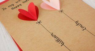 Personalisierte 3D-Karte zum Valentinstag