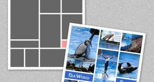 """Photo Storyboard, Photo Collage Template, Photoshop Template 12x12"""" - Nr.1 - Instant Download - Inst"""