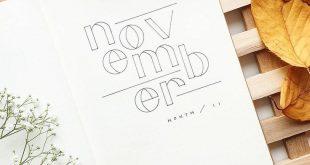 Preparing for November in my bullet journal ❤ .. . . . #bujolettering #bulletj...