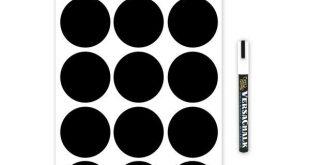 Round Chalkboard Mason Jar Labels