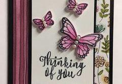 Schmetterlings-Gala, denkend an Sie Karte, 2019 Stampin oben! Anlässe Katalog